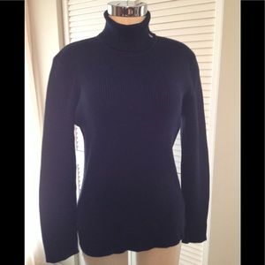 Ralph Lauren 100%cotton navy color turtleneck used